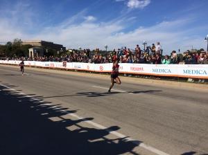 Female winner of the Twin Cities Marathon, Abraha Serkelam Biset