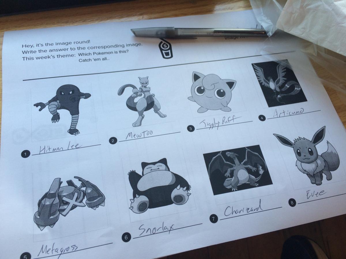 Trivia and Pokemon